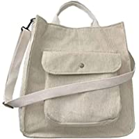 Corduroy Tote Bag Aesthetic Tote Bag Hobo, Corduroy Hobo Bag with Zipper Pocket, Women Shoulder Handbags Casual Hobo…
