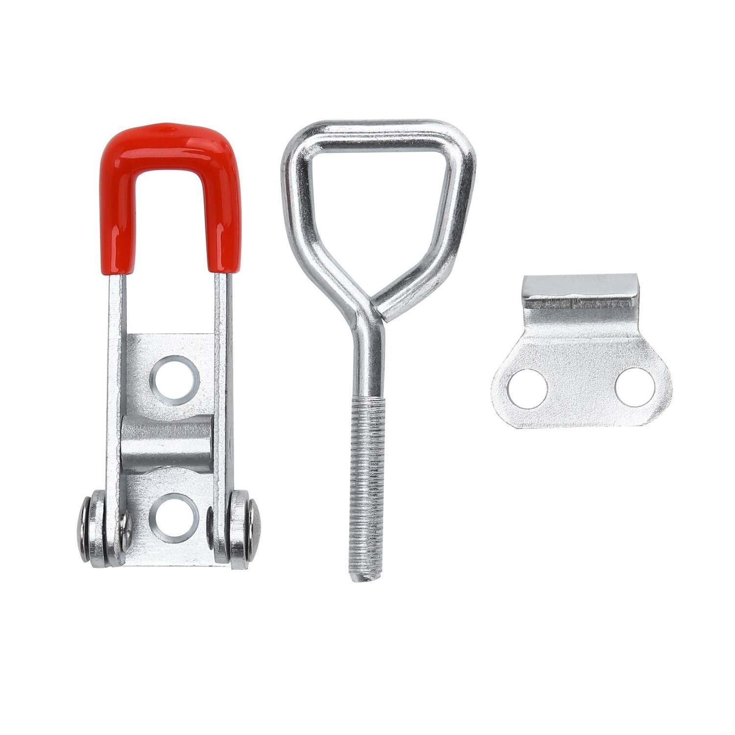 Heavy Duty Hand Tool Quick Release Metal Holding Capacity Door Latch Type 100Kg 220Lbs MINGZE 5pcs Toggle Clamp Latch 4001