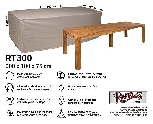 Raffles Covers NW-RT300 - Funda para Mesa de jardín (300 x 100 cm ...