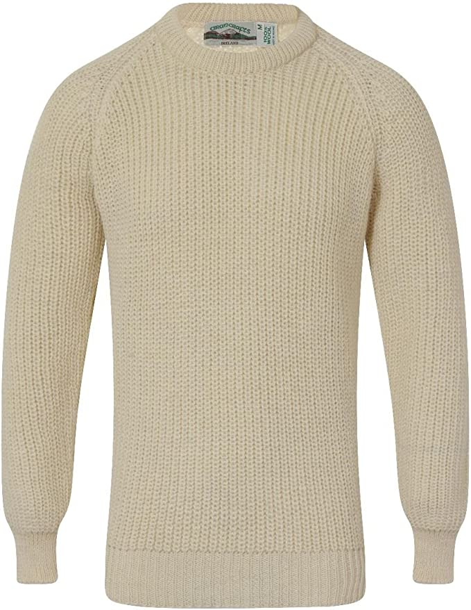 Men's Vintage Sweaters History Fishermans Crew Neck Sweater 100% Wool £45.00 AT vintagedancer.com