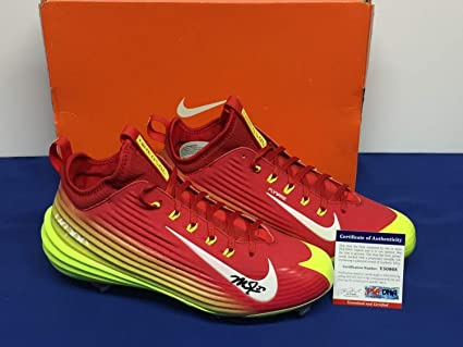 ec438ea9bc85b Mike Trout Autographed Signed Nike Game Model Vapor Cleats Shoes ...
