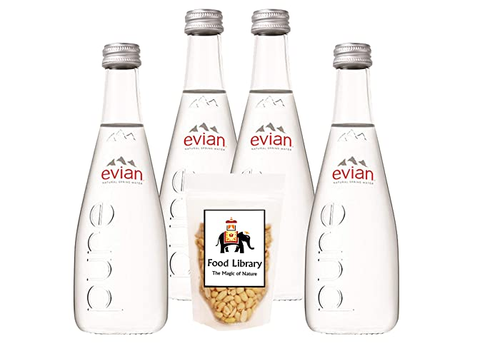 ba2883dceb Food Library Combo of Evian Natural Mineral Water - Glass Bottle ...