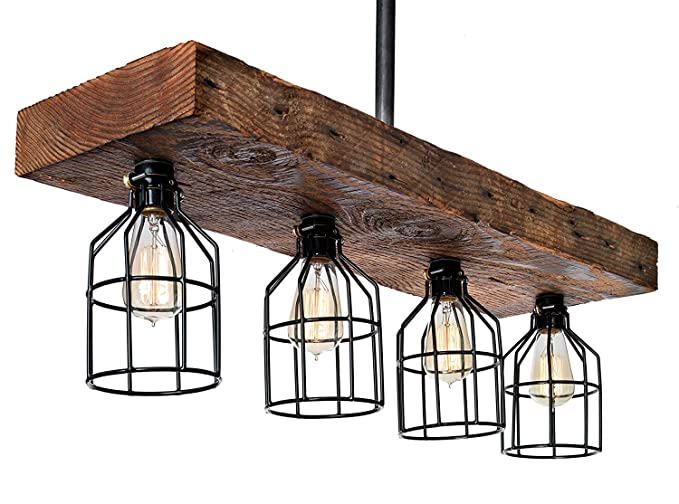 Farmhouse Lighting Reclaimed Wood From Early 1900s Rustic Lighting For Kitchen Island Lighting Dining Room Bar Industrial And Billiard