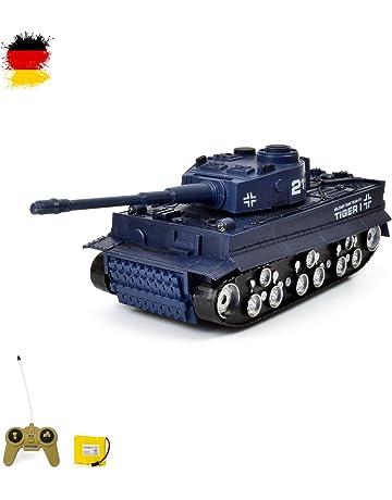 RC Mini tanque Tiger I/German. con balas de y función de sonido.