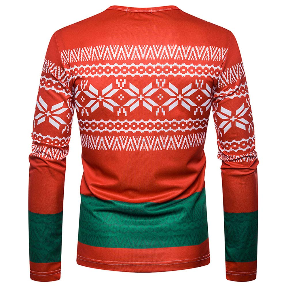 Amazon.com: Easytoy Mens Ugly Christmas X-mas Cardigan T Shirt with Tie Sweater Long Sleeve Shirt: Health & Personal Care