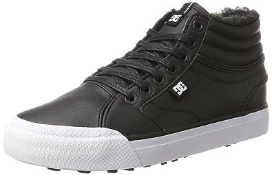 DC Shoes Womens Evan Hi Wnt Low-Top Sneakers, Black (Black/White