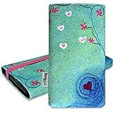 Stilbag Tasche 'MIKA' für Samsung Galaxy S4 mini - Design: Heart in Flower