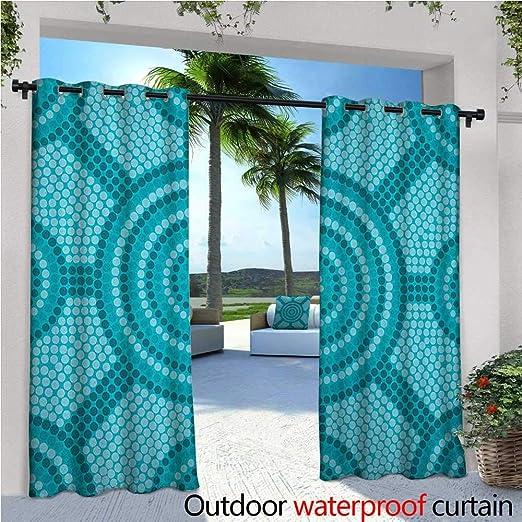 Cortina de privacidad para exteriores de color verde y blanco para ...