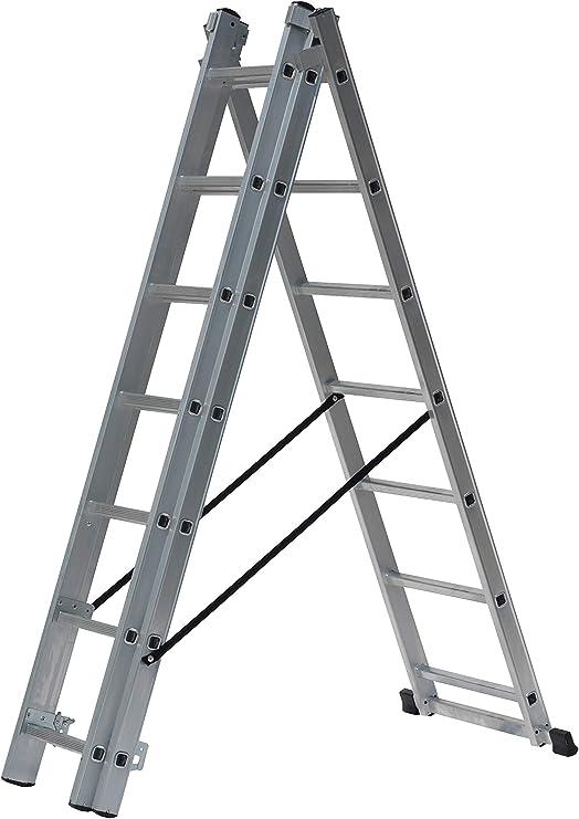 Drabest DW33X7 4-in-1 aluminio combinación reforma escalera 4 m: Amazon.es: Bricolaje y herramientas