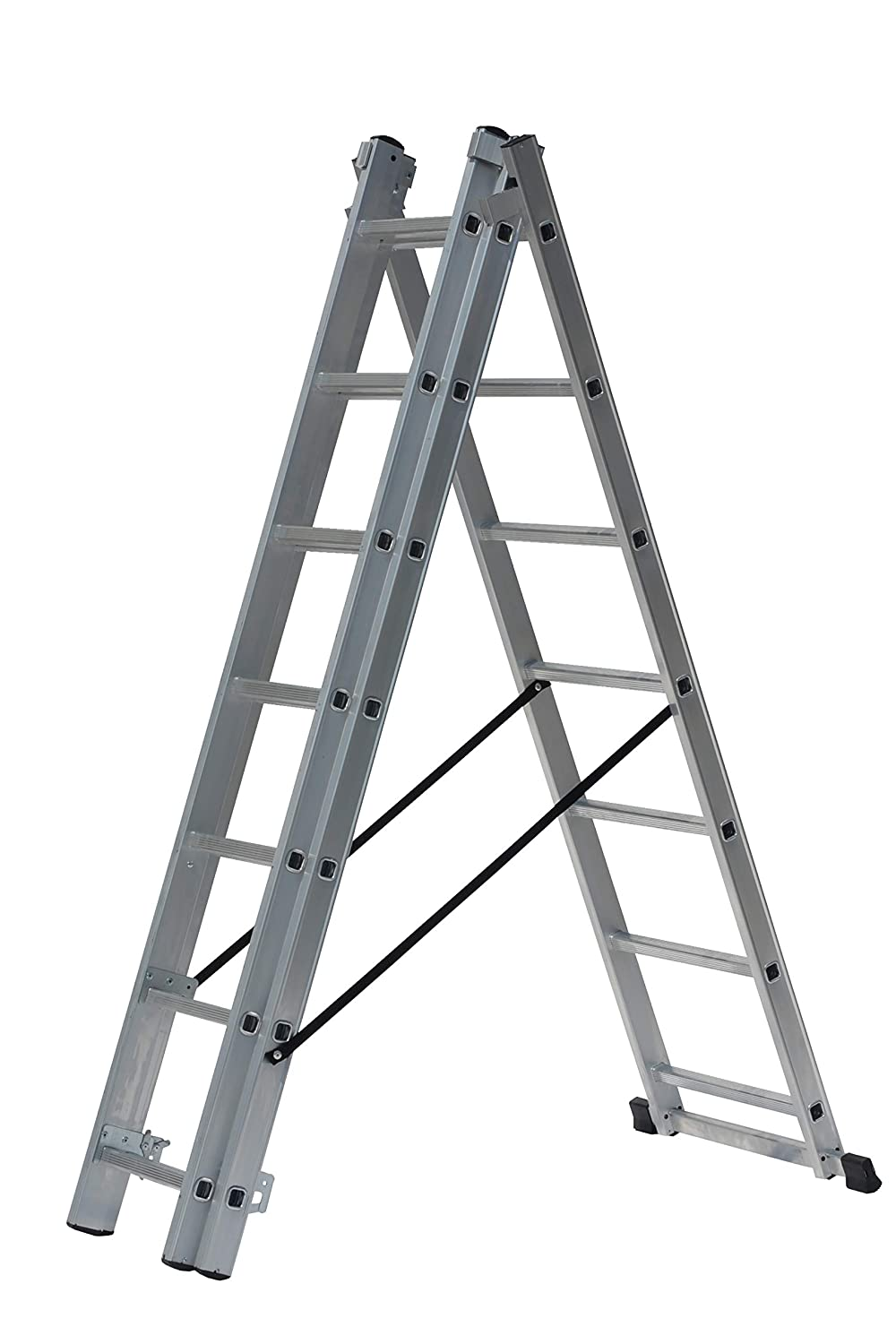 Drabest DW33X7 4 in 1 Aluminium Combination Reform Ladder 4m DP-3X7