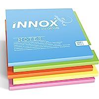 Elektrostatisch selbstklebende Haftnotiz   Für alle Oberflächen - Innovative Sticky Magnetic Notes ohne Klebstoff von INNOX   Ideen visualisieren, verschieben, strukturieren   Bunt, 10x10cm, 500 Blatt