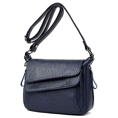 Amazon.com: Bolsas de piel de 7 colores para mujer, bolsas ...