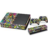 Xbox One Designfolie Sticker Skin - Vinyl Aufkleber Schutzfolie für Xbox One Konsole mit 2 Aufkleber für Xbox One Controller - Gekritzel