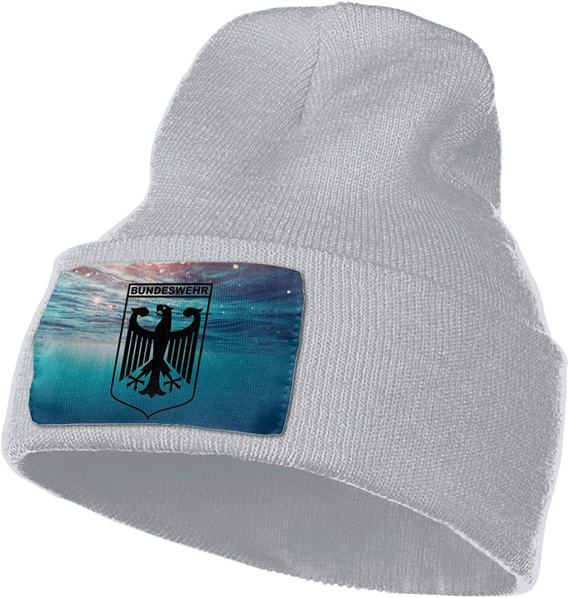 Helidoud Bundeswehr Logo with Text Winter Beanie Hat Knit Skull Cap for for Men /& Women