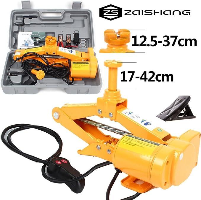 Fengwings Zs Zaishang 12v 2 Tonnen Auto Scherenlift Elektrischer Wagenheber Heber Scherenwagenheber Hebebereich 12 5 42 Cm Auto