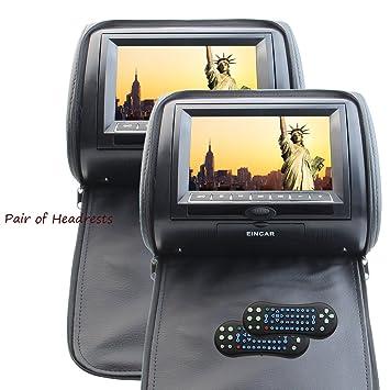 Cabeceras de 2PCs DVD Eincar 7 pulgadas de alta definici¨®n digital 800 *
