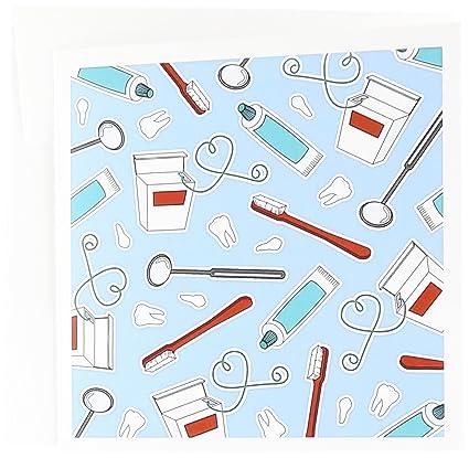 Amazon 3drose cute dentist dental hygienist print blue 3drose cute dentist dental hygienist print blue greeting cards 6 x 6 inches m4hsunfo
