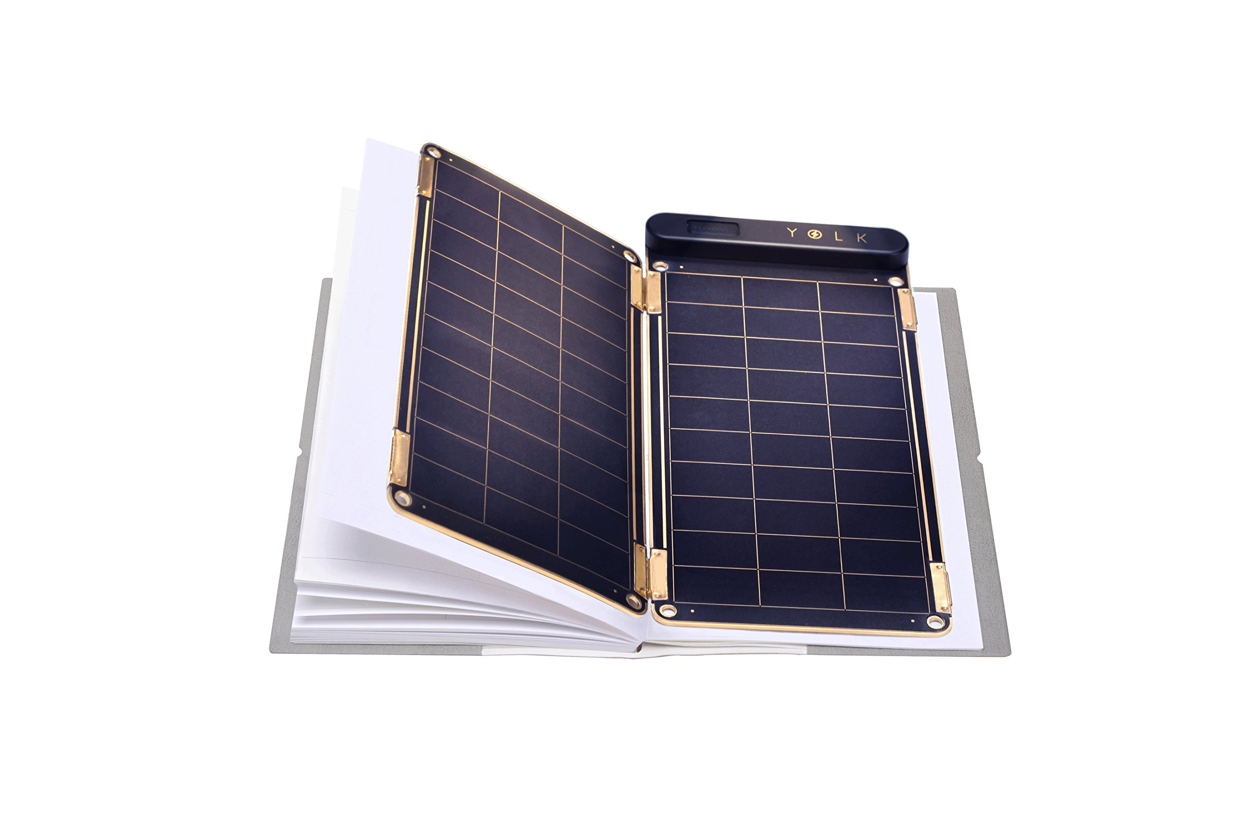 Solar Paper + Pouch, Paper-Thin and Light Portable Solar Charger with Ultra-High-Efficiency (5W) by YOLK