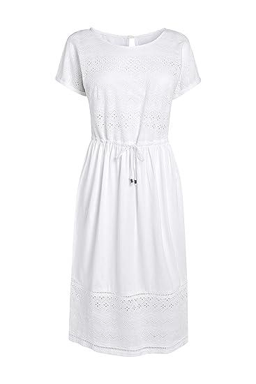 next Damen Kleid Mit Lochstickerei – Langgrößen: