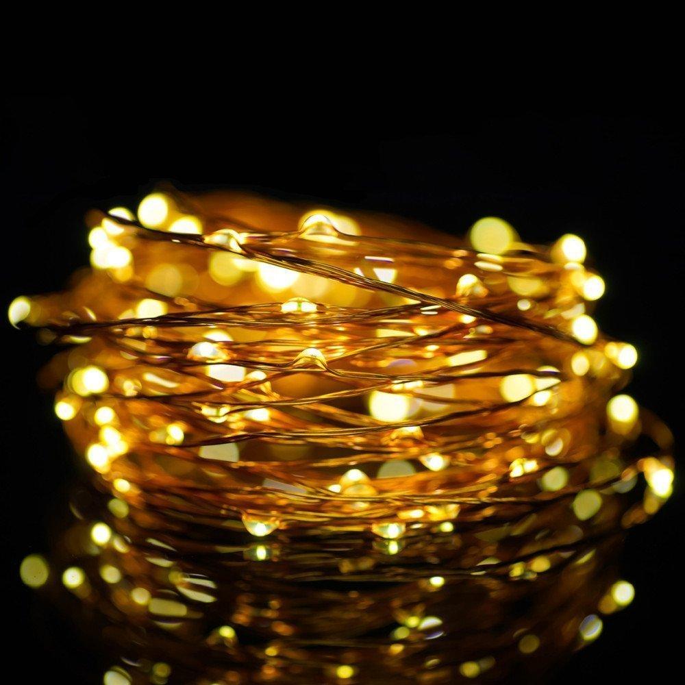 String Lights, Vintar 2 Set of 30 LEDs Super Bright Warm White Flexible Light 9.8 Ft/3M Strip ...