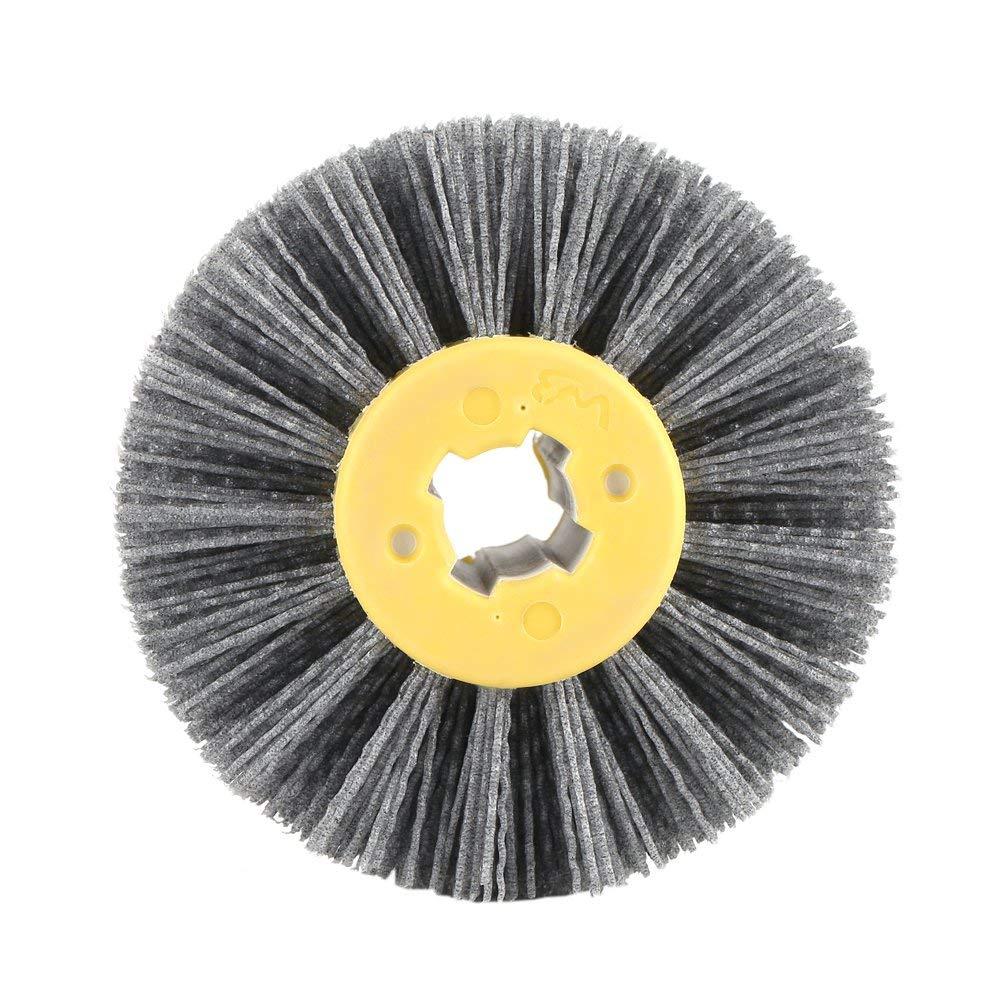 CHUNSHENN Wire Drawing Wheel Brush Drum Burnishing Polishing Wheel 120 Buffing Wheels