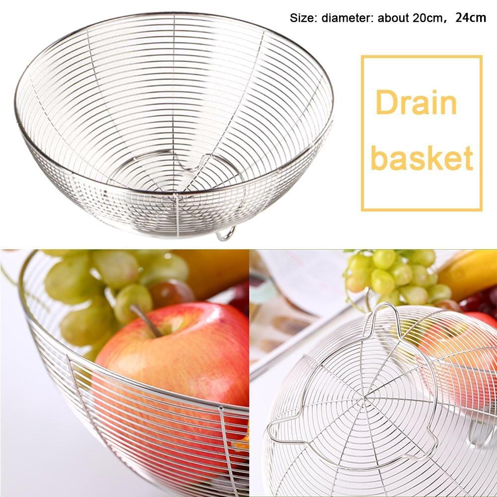 Obstkorb Küche Gemüseablauf Waschkorb, Wasserfiltrations-Ablagekorb ...