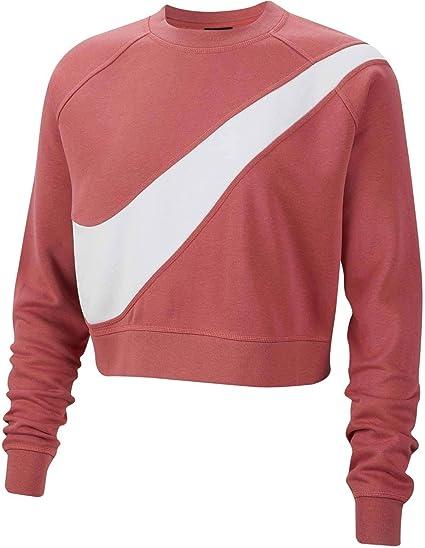 Nike Sudadera Sportwear Swoosh FLC BB Rosa M (Medium): Amazon.es: Ropa y accesorios
