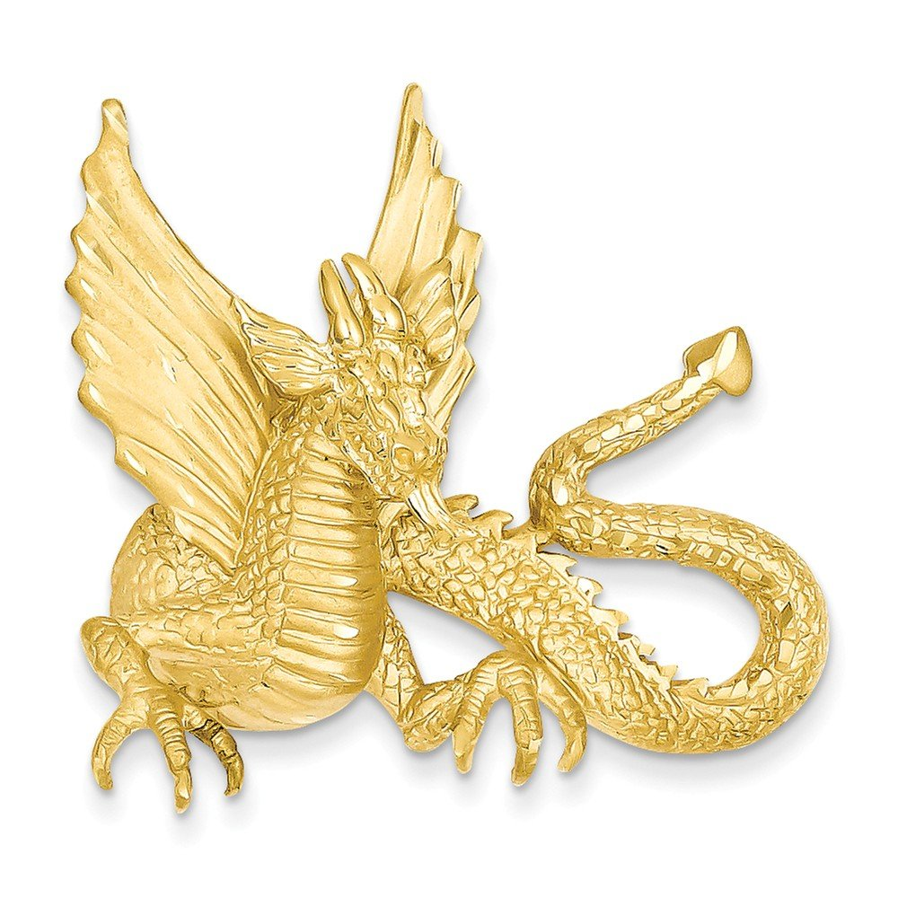 14k Yellow Gold Dragon Slide by Jewelry Pot