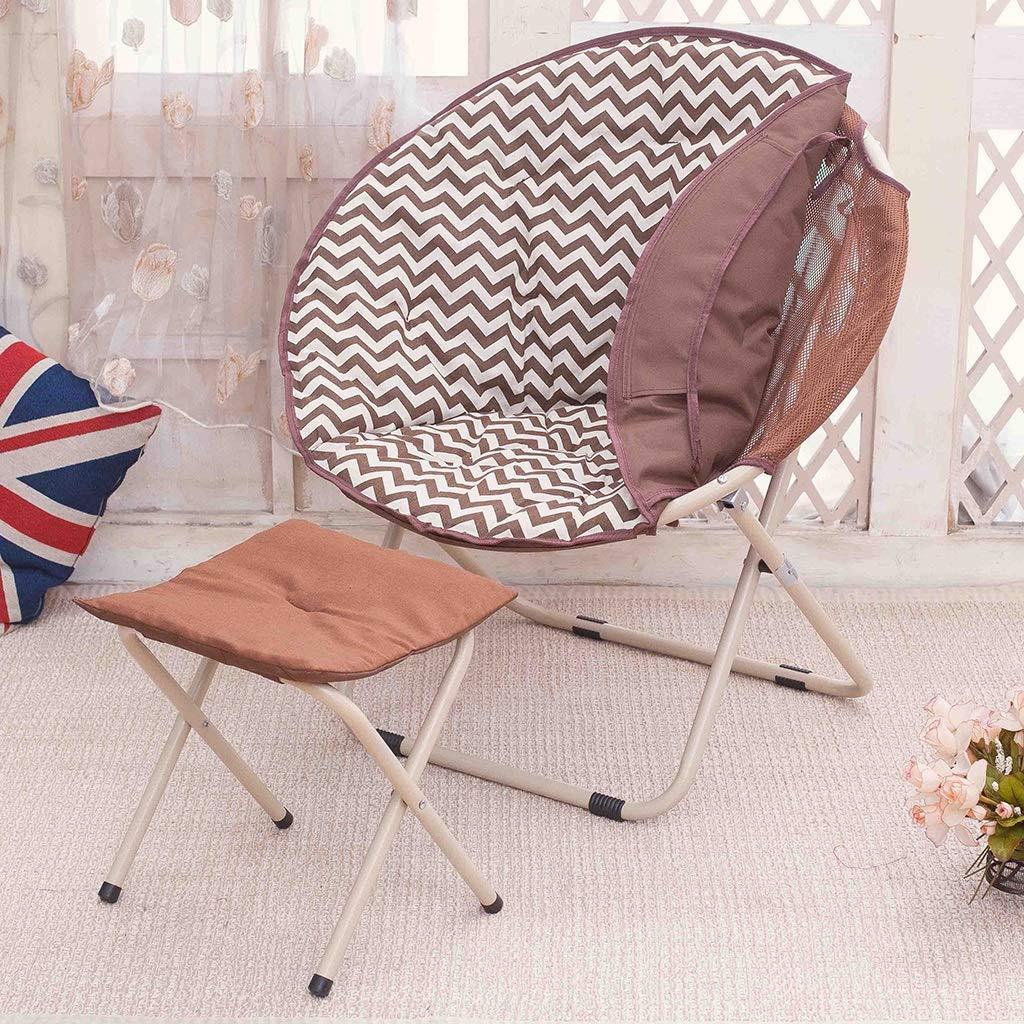 Zcxbhd Campingstuhl Klappstuhl Faule Couch Freizeitliege (Abnehmbar) Polster zum Outdoor-Aktivitäten (Farbe   A) F
