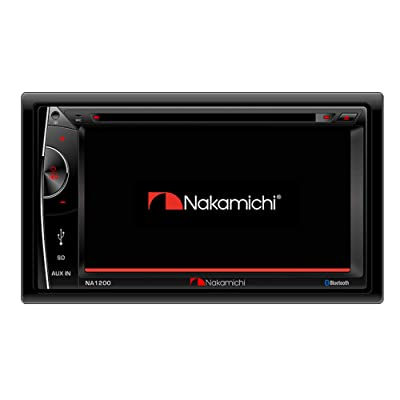 "Nakamichi NA1200S Double-Din In-Dash 6.2"" LCD Touch-Screen Display Multimedia CD DVD USB MP3 AM/FM Bluetooth Spotify & Pandora Car Stereo Receiver: Car Electronics"