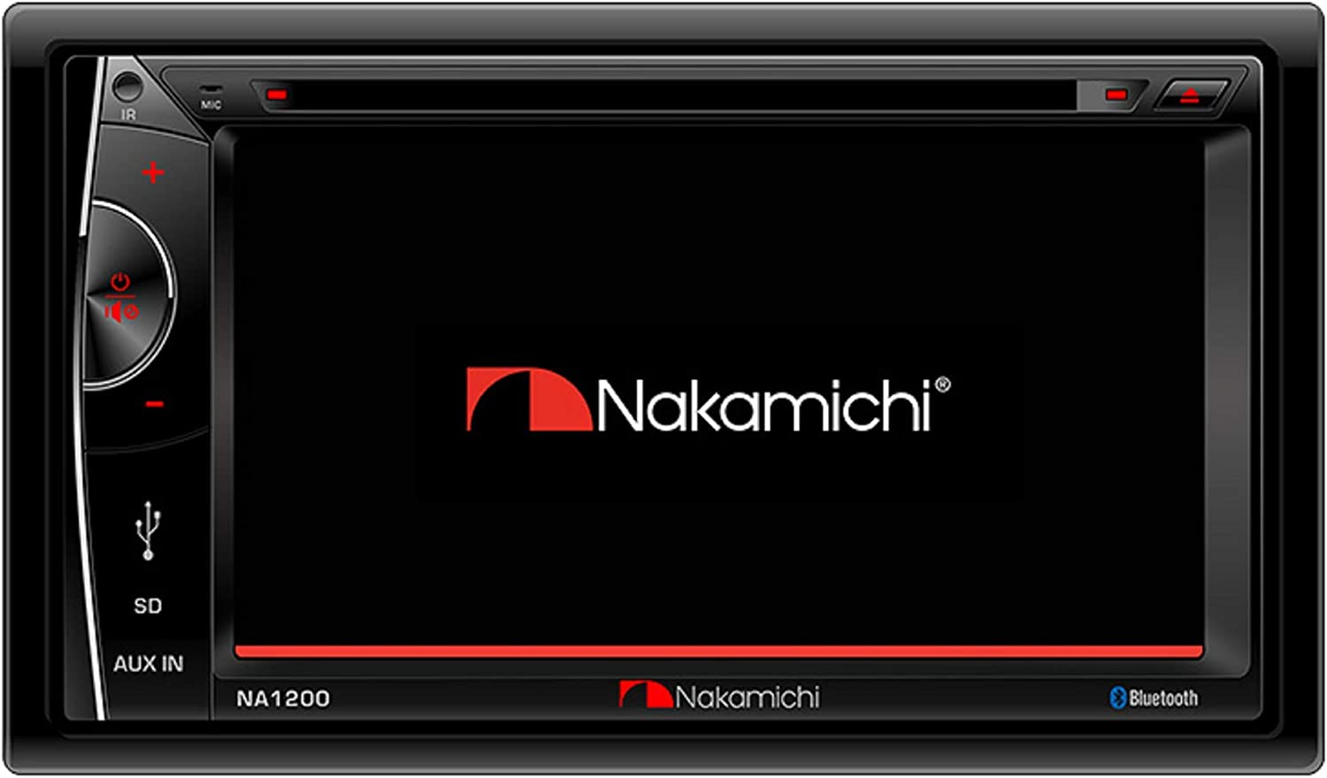 """Nakamichi NA1200S Double-Din In-Dash 6.2"""" LCD Touch-Screen Display Multimedia CD DVD USB MP3 AM/FM Bluetooth Spotify & Pandora Car Stereo Receiver"""