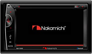 "Nakamichi NA1200S Double-Din In-Dash 6.2"" LCD Touch-Screen Display Multimedia CD DVD USB MP3 AM/FM Bluetooth Spotify & Pandora Car Stereo Receiver"