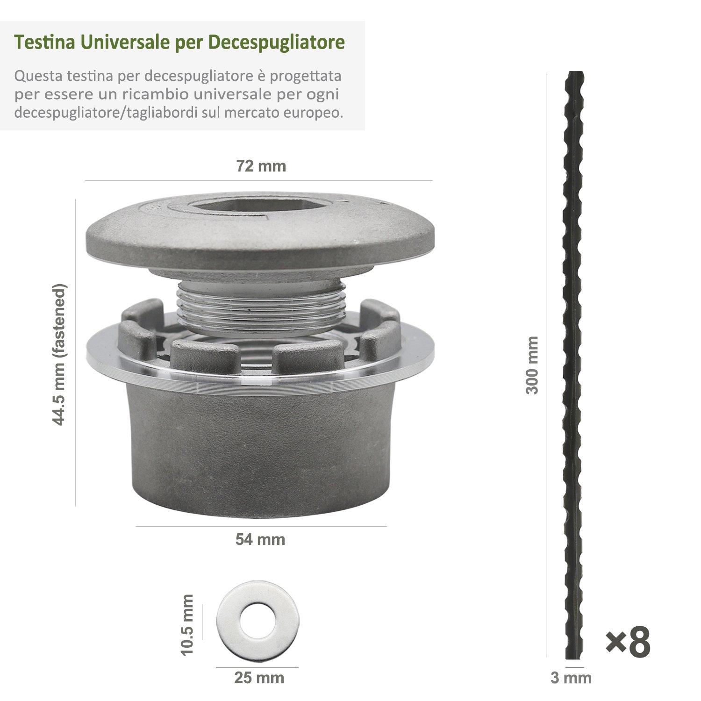 Cabezal Desbrozador Universal (Aluminio) con 8 Piezas 30cm Hilo Extrafuerte - Compatible con la Mayoría de Desbrozadoras a Gasolina, Handy Picks: Amazon.es: ...