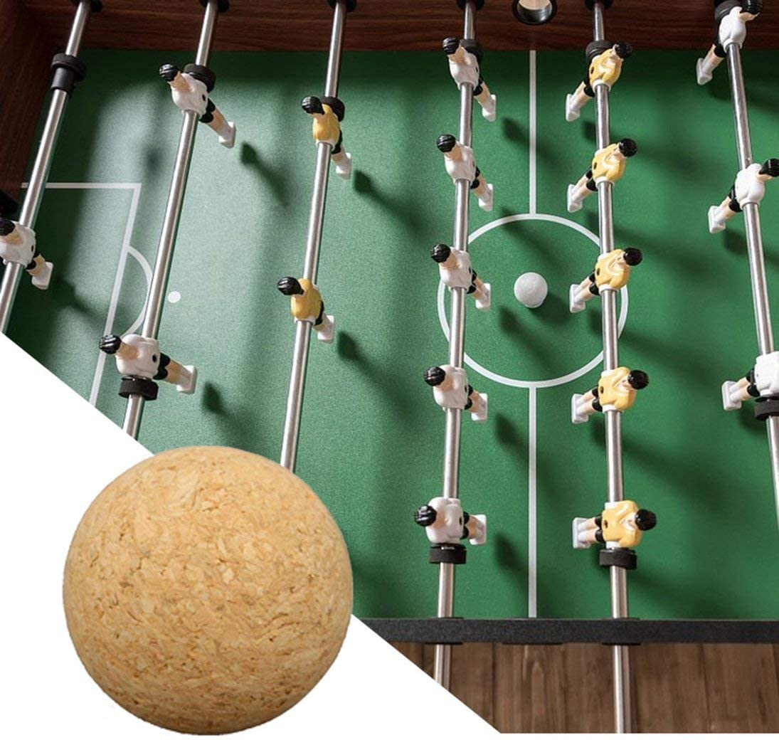 WEIHAN 36mm Corcho Mesa De Fútbol De Madera Maciza Pelota De Fútbol Fútbol Fútbol Fútbol Fussball Bebé Niños Pie de Juguete: Amazon.es: Juguetes y juegos