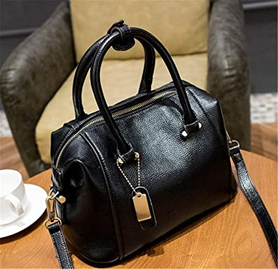 318c159a02fd Tellusa Luxury Designer Women s Genuine Leather Handbag Patent Casual  Ladies Crossbody Bags For Women Shoulder Chain Bags X38 black big  Handbags   Amazon. ...
