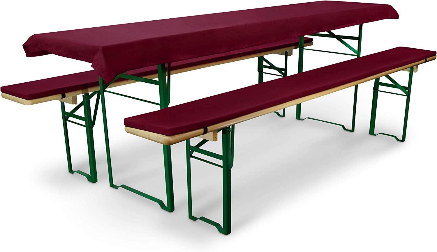 100/% Polyester Beautissu Comfort L Trestle Table Cover Tablecloth For 50cm Wide Table top Light Red