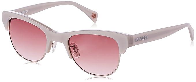 Womens Eye Sunglasses, White (Bianco/Rosso), 52 Moschino