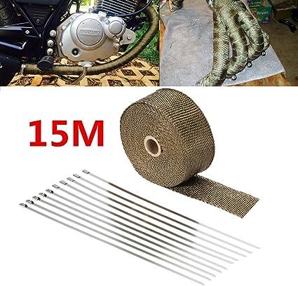 Rollo de papel térmico para tubo de escape MASO 15 m universales ...