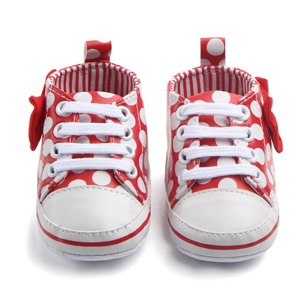 FNKDOR Baby M/ädchen Mode Sneaker Bowknot Dot Print Lace-Up Anti-Rutsch-Schuhe Sneaker