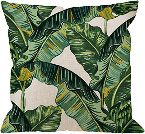 Amazon Com Hgod Designs Palm Leaves Decorative Throw Pillow Cover Case Tropical Palm Leaves Jungle Leaf Cotton Linen Outdoor Pillow Cases Square Standard Cushion Covers For Sofa Couch Bed 18x18 Inch Green Home Cheap painting & calligraphy, buy quality home & garden directly from china suppliers:modern green tropical leaves canvas prints paintings pop wall art posters pictures on canvas for living room home decorative enjoy free shipping worldwide! hgod designs palm leaves decorative throw pillow cover case tropical palm leaves jungle leaf cotton linen outdoor pillow cases square standard cushion