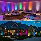 Onforu 4 Pack 12W Color LED Flood Lights, IP66
