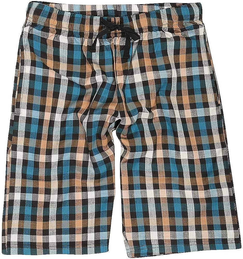 Bedlam Older Boys Checked Long Pyjama Sleep Shorts
