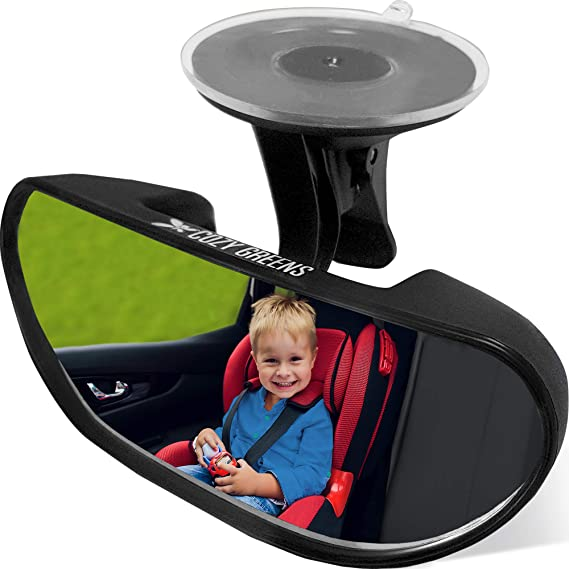 Sunnyflowk Stylish Safety Car Easy View Back Seat Mirror Baby Facing Rear Ward Child Infant Care Round Shape Baby Kids Monitor white