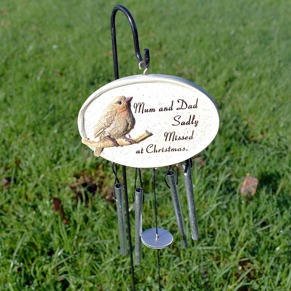 Angraves Special Mum & Dad at Christmas Robin Memorial Wind Chime