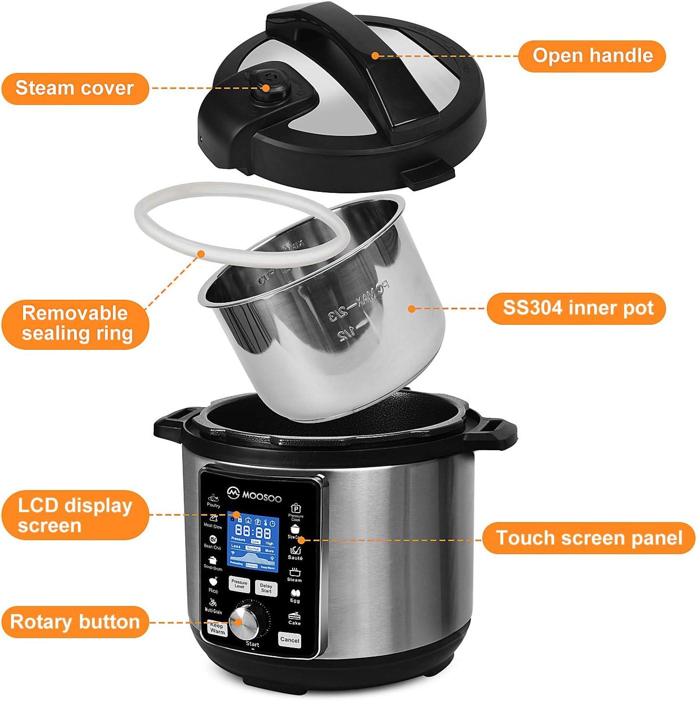 MOOSOO 13-in-1 Electric Pressure Cooker