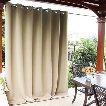 Amazoncom Nicetown Patio Door Outdoor Curtain Thermal Insulated