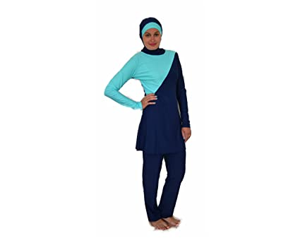 220716dc15164 Nisaa Swimwear, Modest Fully Covered Swimsuit Burqini for Muslim (Aqua,  3XLARGE)