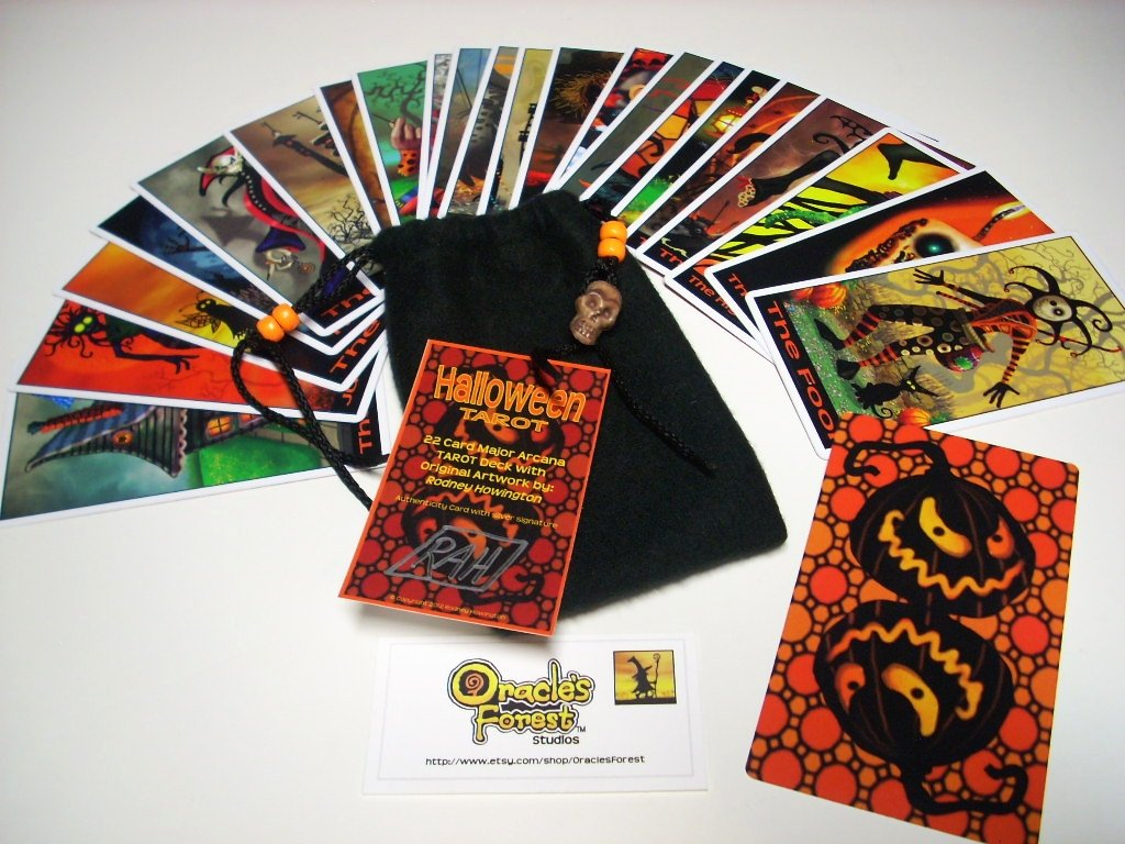 Read Online Halloween Tarot Cards - 22 Card Major Arcana Deck (With Handmade Tarot bag) (Halloween Tarot) ebook
