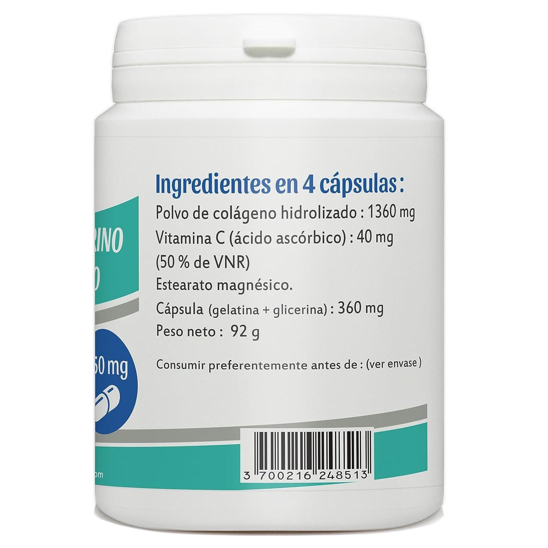 Colágeno Marino Hidrolizado y Vitamina C - 350mg por cápsula - 200 cápsulas