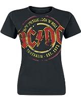 AC/DC High Voltage - Australia Est. 1973 Vintage Girl-Shirt schwarz